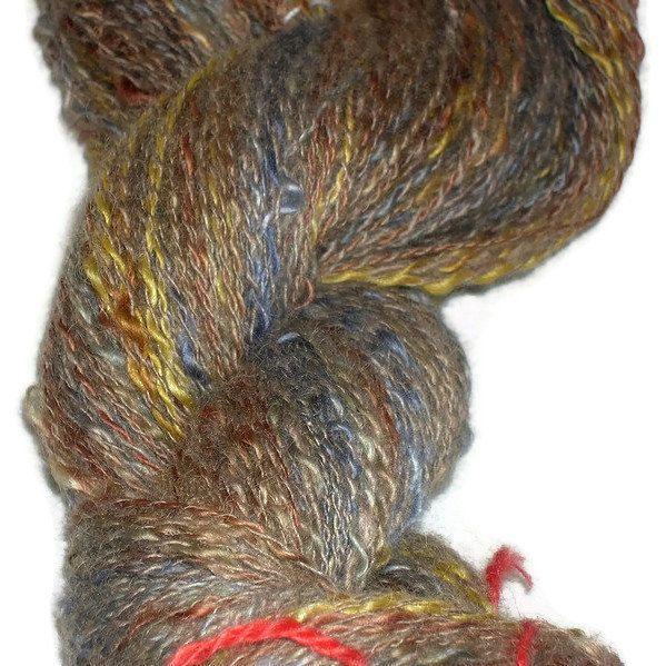 Delicious Cashmere Yarn Hand Spun And Hand Dyed. EU SELLER