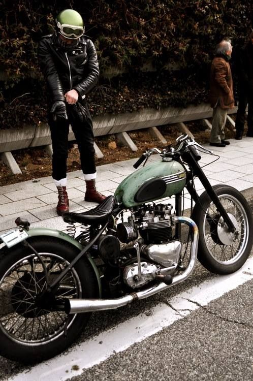 Old Triumph Motorcycle...