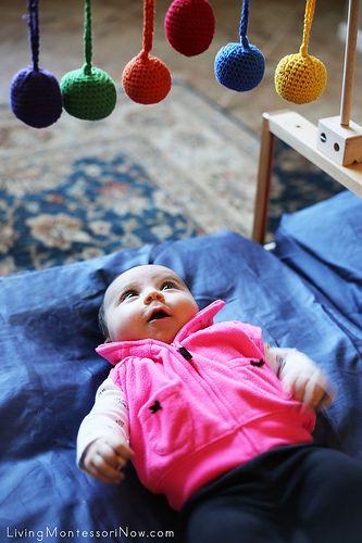 Preparing a Montessori Baby Space in Your Living Room | LivingMontessoriNow.com