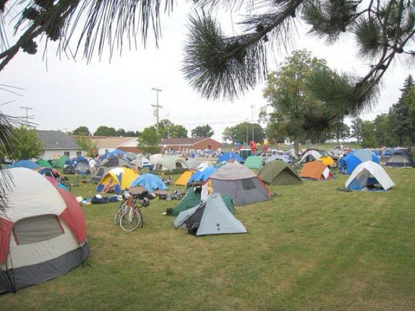 Campout on the Football Field - 20  Best Senior Prank Ideas, http://hative.com/best-senior-prank-ideas/,