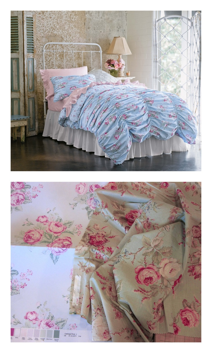 inspired by a favorite from rachel ashwell shabby chic couture line the cabbage rose duvet