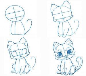 les 25 meilleures id es de la cat gorie dessin de chat sur pinterest tutoriel dessin chat. Black Bedroom Furniture Sets. Home Design Ideas