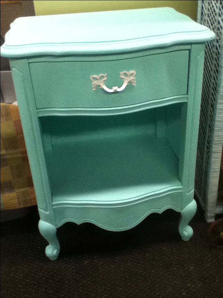 Beachy Green  bedside table