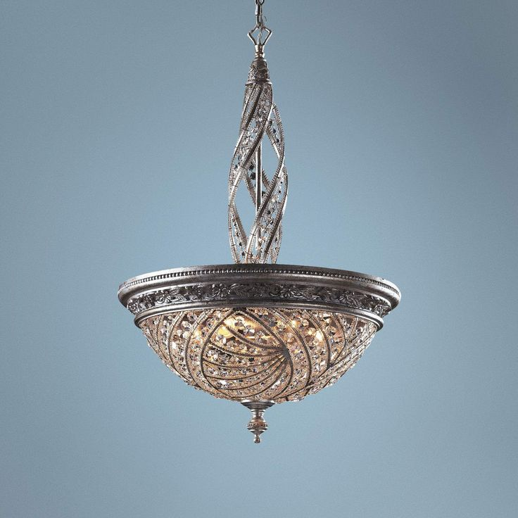Genoese Collection Silver Finish Crystal Pendant Chandelier 60253 Lamps Plus