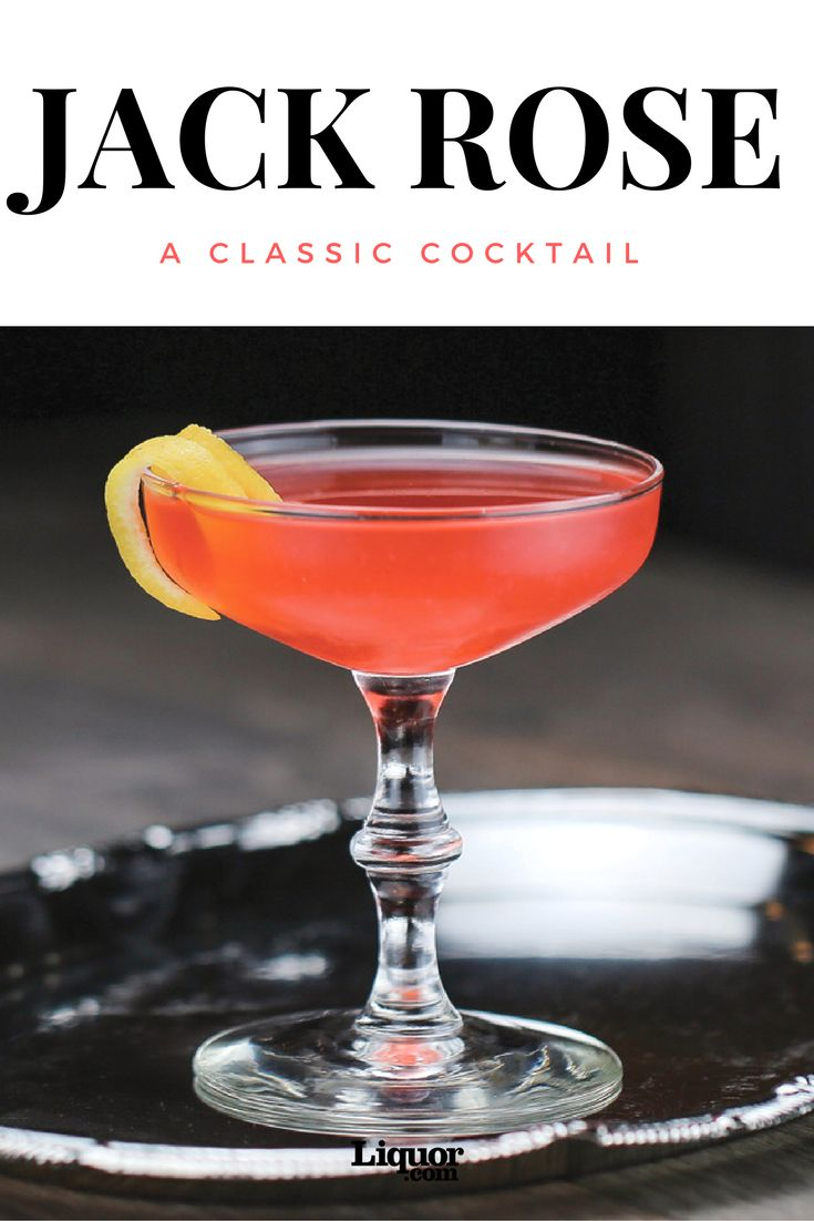 Classics You Should Know: The Jack Rose Cocktail. The pretty pink glow hides a strong punch of applejack.