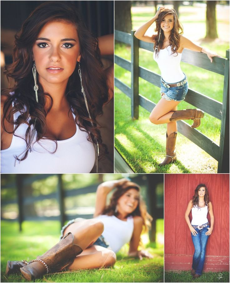 Great pose ideas for Country girls!