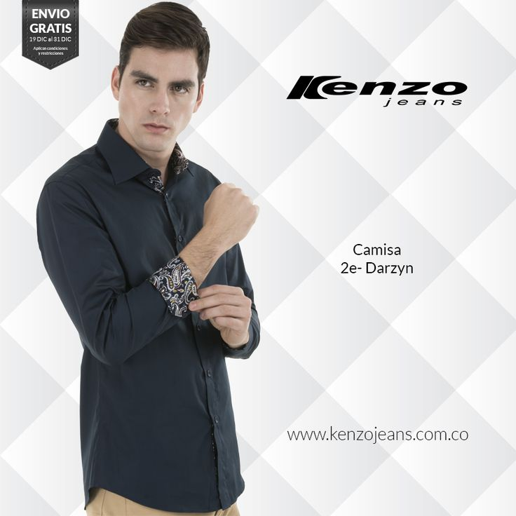 Las camisas manga larga son pieza clave en el guardarropa masculino, ya que son icono de elegancia y del buen vestir. #KenzoJeansaUnClic compra ahora en ow.ly/Wh06U