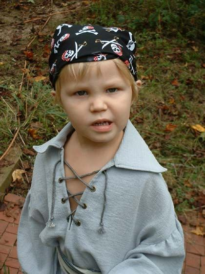 Fabulous Pirate Bandana  Skulls Crossbones and by fwcreations4All, $8.99