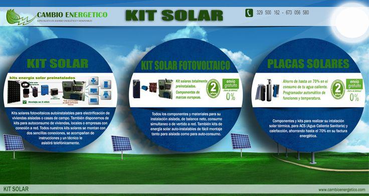 Kit solar fotovoltaico es útil para aquellos que están ansiosos por usar energía solar limpia y renovable en el país. Un kit detallado permitirá con éxito convertir energía solar en electricidad utilizable para sus electrodomésticos, bombas, sistemas de calefacción, iluminación y todos los otros sistemas eléctricos de potencia. Prueba este sitio http://www.cambioenergetico.com/12-energia-solar-fotovoltaica para obtener más información kit solar fotovoltaico.
