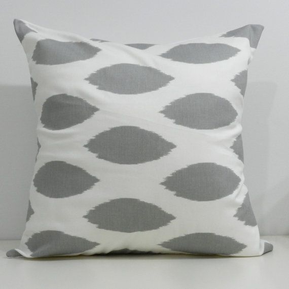 Grey and white ikat