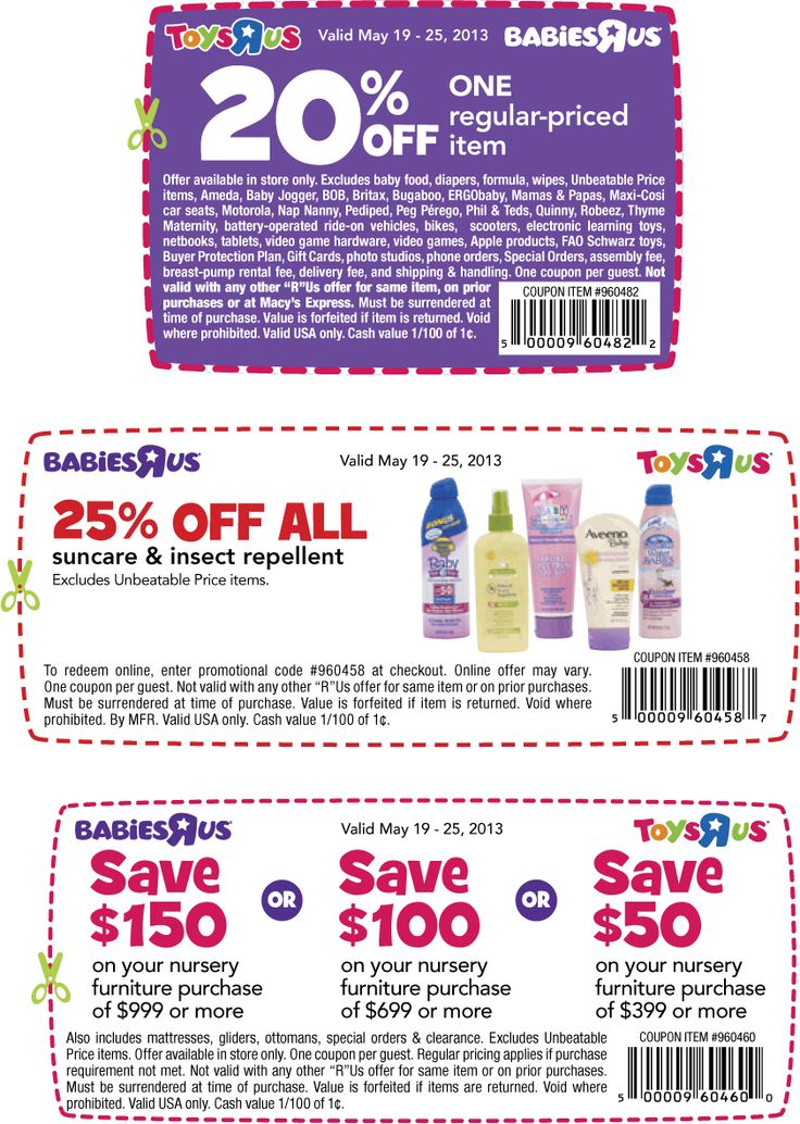 graphic regarding Babies R Us Printable Coupons titled Toddlers r us discount codes 20 off 2018 : Ninja cafe nyc discount coupons
