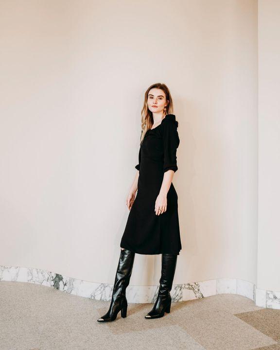 zwarte bronx lange laarzen new americana 14165 Omoda