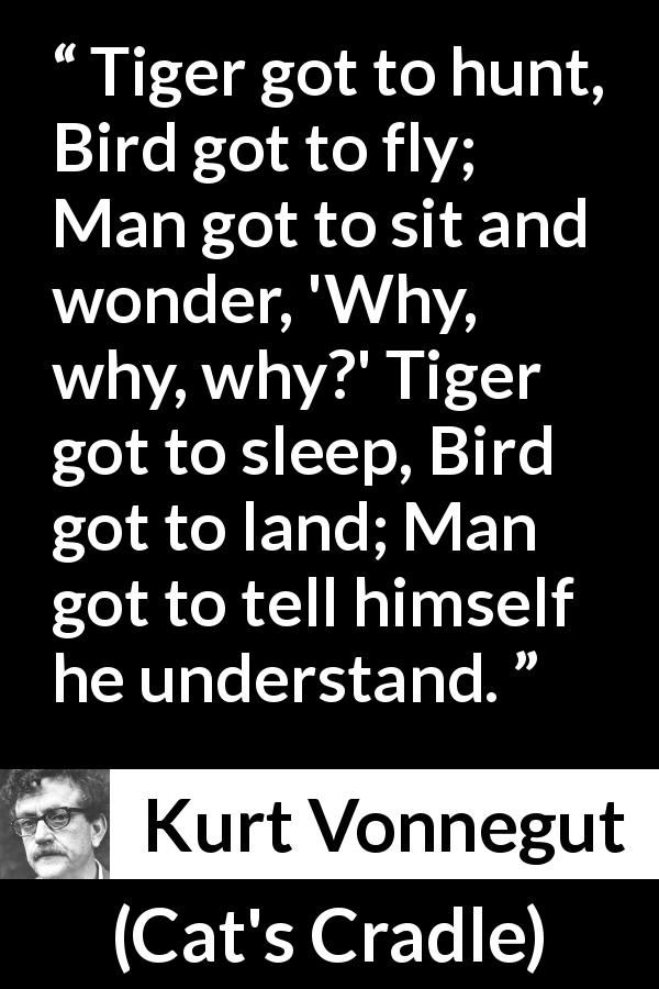 Kurt Vonnegut About Understanding Cat S Cradle 1963 Kurt