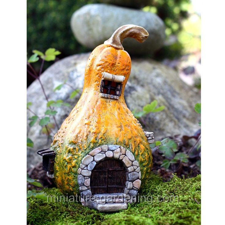 Gourd Fairy House with Light  #fairy  #miniature  #garden