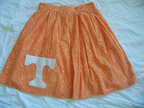 Tennessee Vol Gameday Skirt. $52.00, via Etsy.
