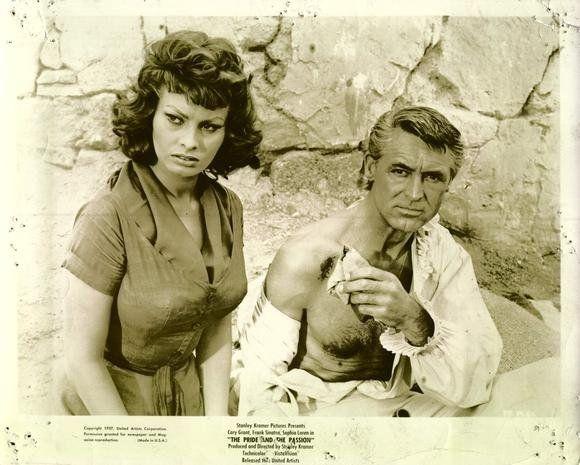 Sophia Loren  & Cary Grant--1957--The Pride & The Passion