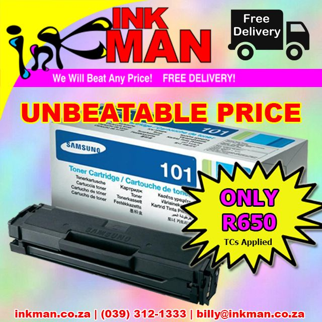 @SamsungSA ML101 #Toner #UNBEATABLE #PRICE! ONLY R650 #INKman #Margate #Print http://bit.ly/1MX7xt0