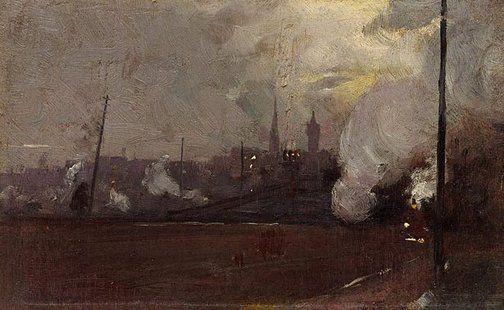 Evening Train to Hawthorn - Tom Roberts