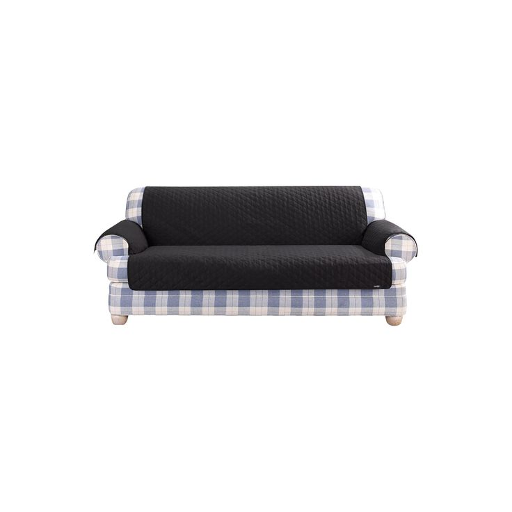 quilted duck furniture friend pet loveseat cover black sure fit