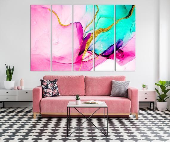 Abstract Modetn Artwork Trendy Wall Art Luxury Canvas Print Etsy Trendy Wall Art Abstract Wall Decor Abstract Wall Art
