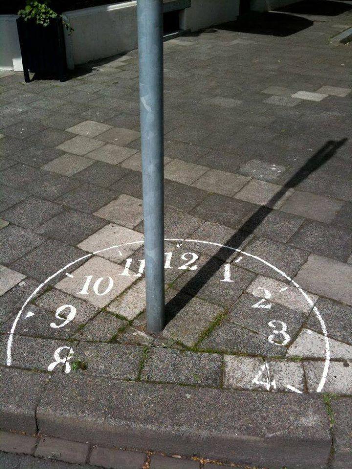 Urban clock via Stroke Art Fair
