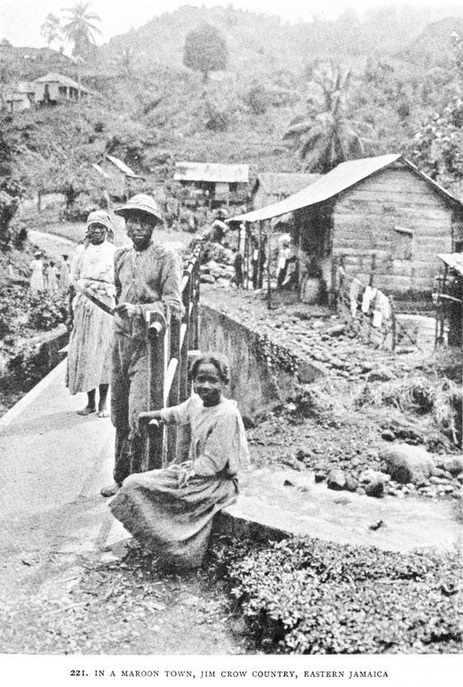 picture of a maroon district in eastern part of Jamaica.