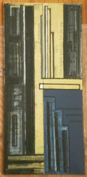 Nozioni di dimensione 50x109 olio, smalto