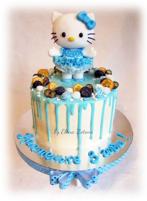677 best Hello Kitty Cakes images on Pinterest Hello kitty cake