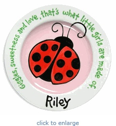 21 best oh baby images on pinterest painted ceramics painted love this personalized baby plate personalized negle Image collections
