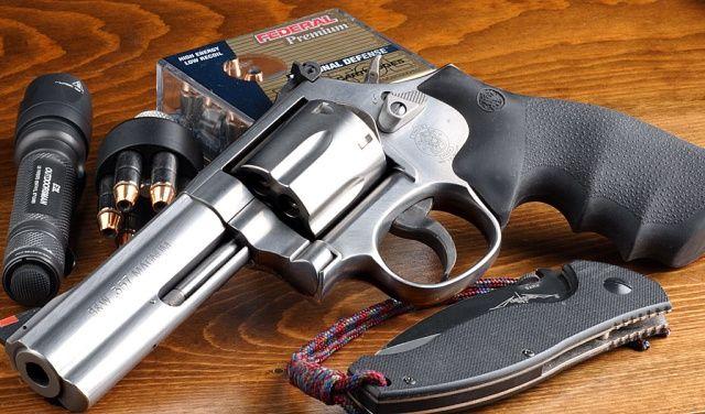 Smith & Wesson .357, hollow point    http://olegvolk.net/gallery/d/9641-3/L_frame_06.jpg