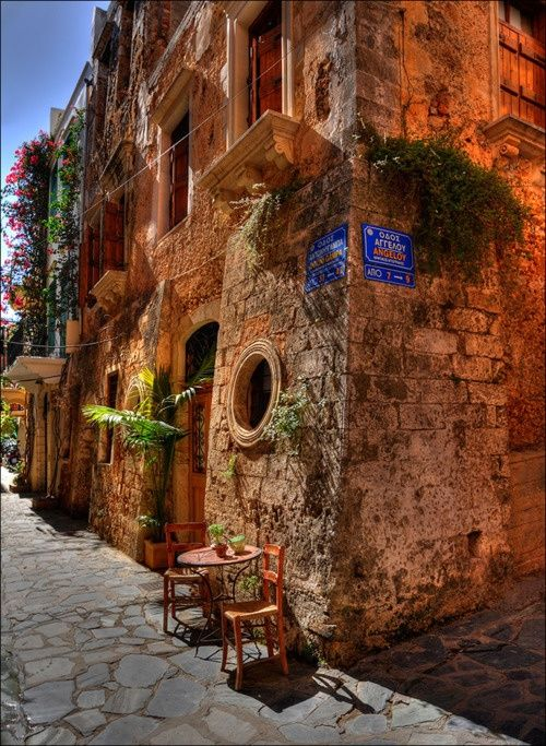 Stroll through the romantic narrow streets of Chania, Greece, drinking Greek wine & coffee & enjoying the excellent Cretian food, as you discover what this beautiful city has to offer.