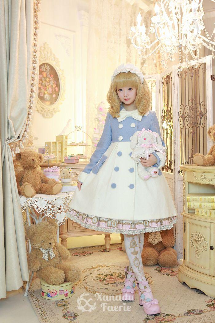 Sweet Lolita // two tone winter coat