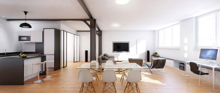 27 best images about immobilier 3d on pinterest villas perspective and pastor - Acheter un loft a paris ...