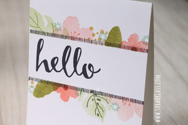 Hello, Hello, hello... — Sarah Klass - Independent Stampin' Up! Demonstrator