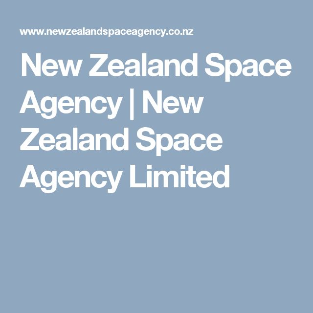 New Zealand Space Agency | New Zealand Space Agency Limited