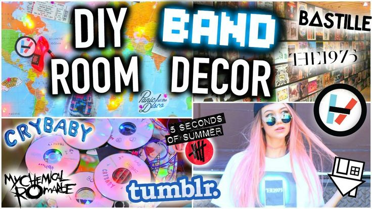 DIY BAND Room Decor You NEED to Try!                                                                                                                                                      More