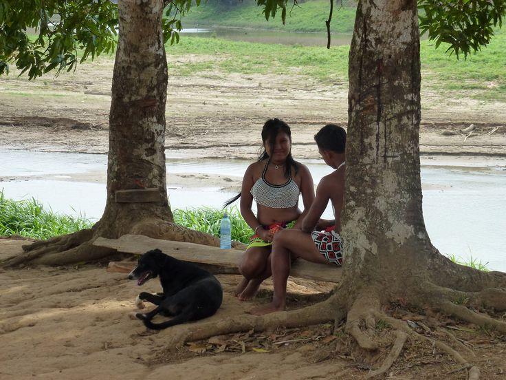 Panamà - Emberà next to Rio Chagres