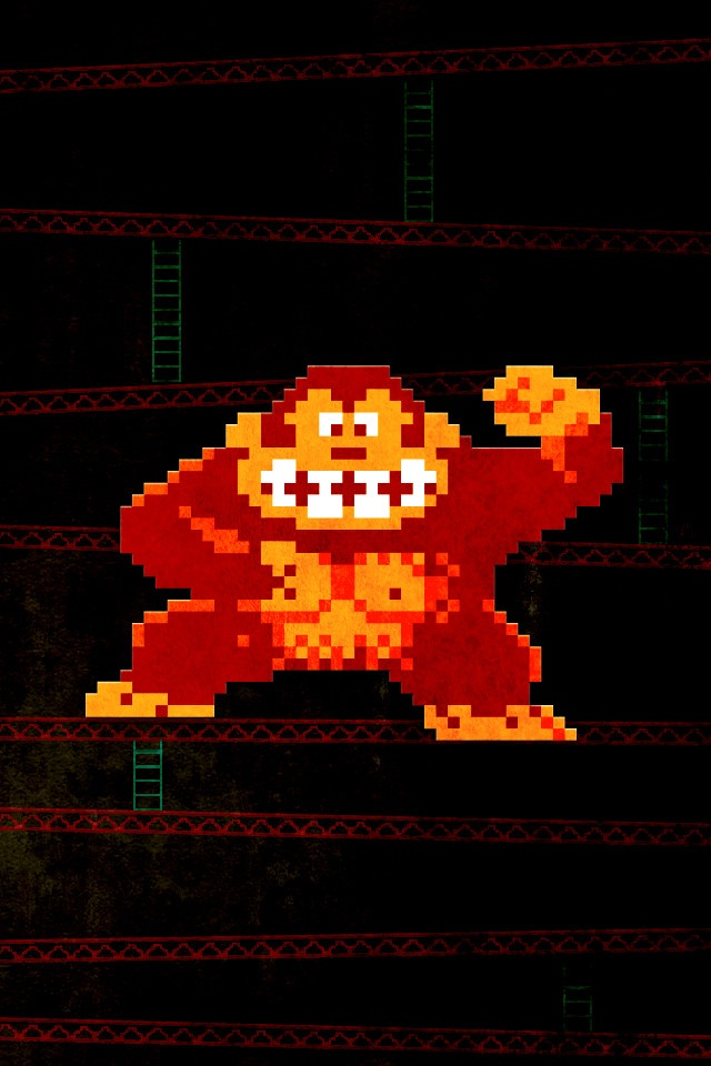 Grungy Retro Gaming Iphone Wallpapers Donkey Kong
