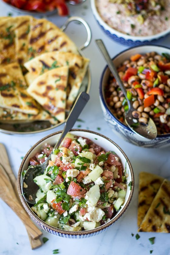 tiffany keys Whether enjoyed as a salad side or wrapped in pita this Turkish Cucumber Feta and Tomato Salad is one meze you don   t want to miss