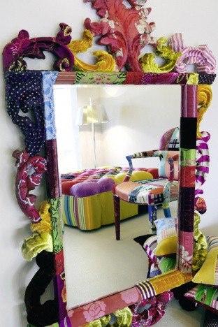 Bohemian Fabric Mirror