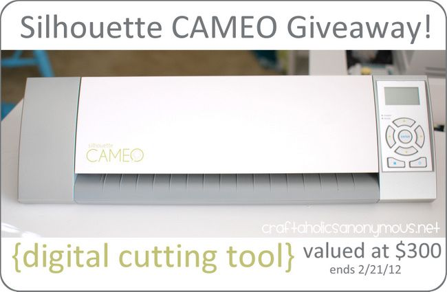 Silhouette CAMEO Giveaway + 25% off discount code! www.craftaholicsa...