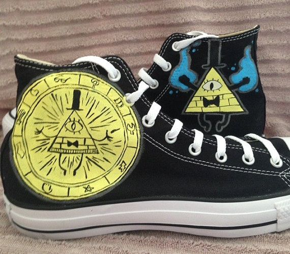 Anime Gravity Falls Bill Cipher unisex Cosplay Canvas Shoes Athletic shoes