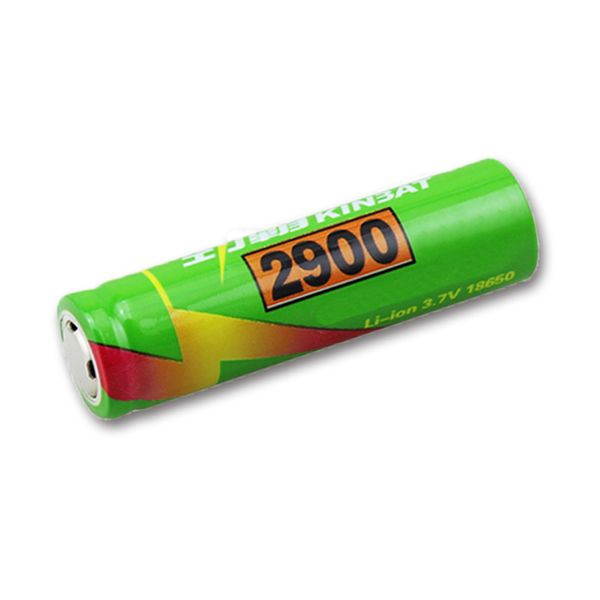 1PCS KINBAT 3.7v 2900mAh Unprotected Rechargeable 18650 Li-ion Battery