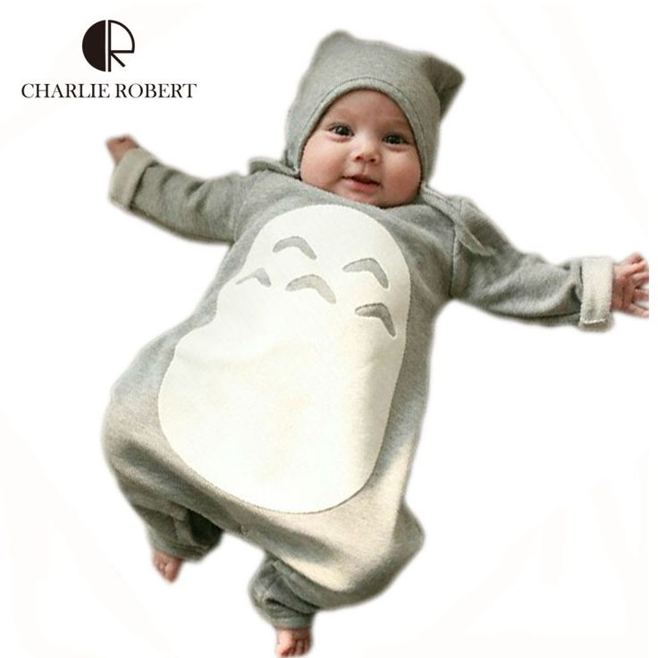 Cartoon Baby Clothes Bodysuit Baby Costume Totoro Girl Boy Infantil Christmas Clothes Winter Clothing Kids Pajama Jumpsuit HK951