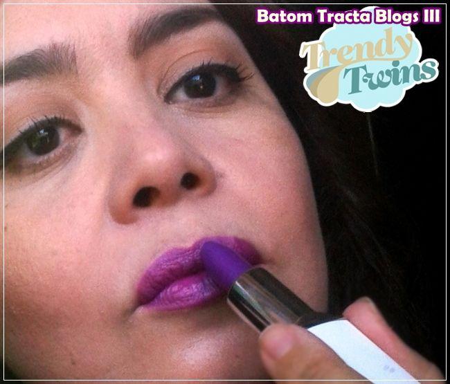 Batom Tracta Trendy Twins #Lipstick #Violet