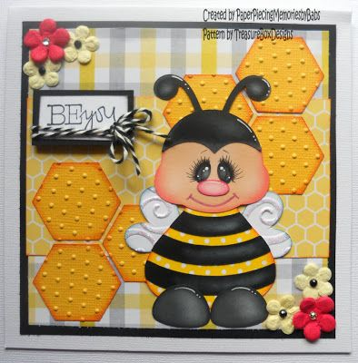 Created by PAPER PIECING MEMORIES BY BABS, using Tiny Treasures Bee