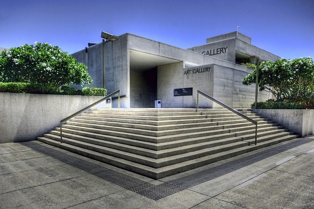 Queensland Art Gallery designed by Robin Gibson. Brisbane