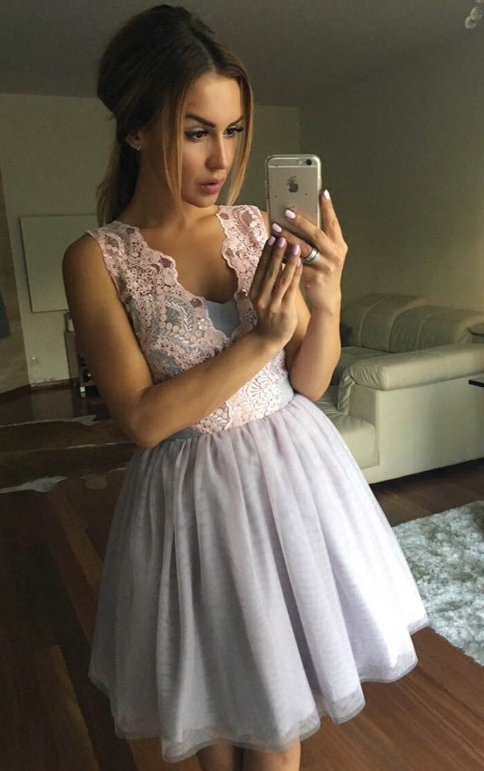 Tiulowa sukienka z gipiurową górą.  Tulle dress