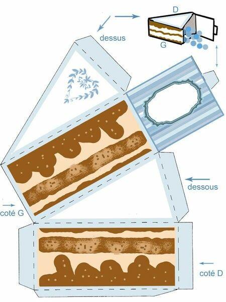 Caja porción de pastel
