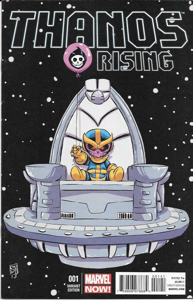 Thanos Rising # 1 Marvel Now ! Variant Cover by Skottie Young